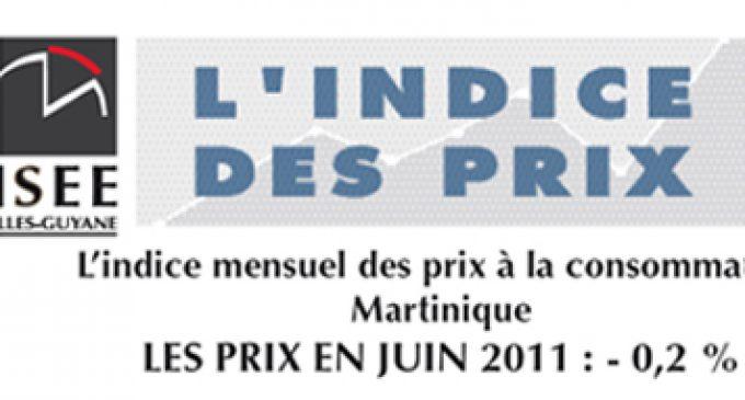INSEE : l'indice des prix de juin 2011 et ses détails