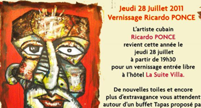 28 juillet, Expo à la Suite Villa: Ricardo Ponce et ses références afro-cubaines