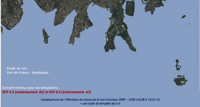 La Martinique partiellement sous les eaux en 2090 (Pascal SAFFACHE)