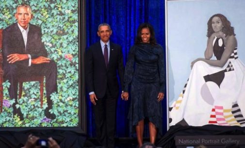 Barack ET Michelle Obama à la « National Portrait Gallery » à Washington