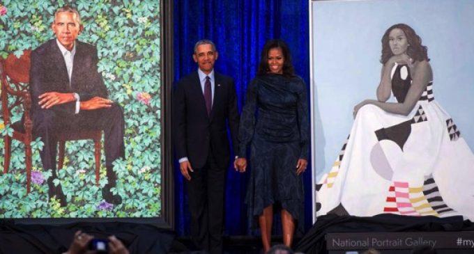 Barack ET Michelle Obama à la «National Portrait Gallery» à Washington