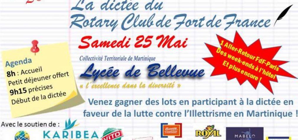 Lutte contre l'illettrisme : la Dictée du Rotary Club de Fort de France – 1ère édition