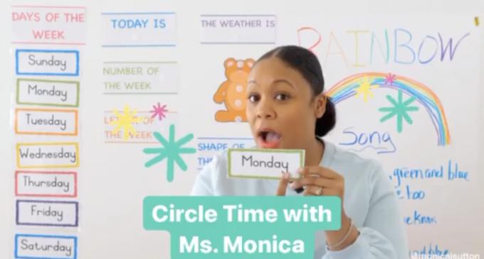 Une éducatrice qui simplifie l'apprentissage à distance à l'aide de ses vidéos Pre-k'circle time'