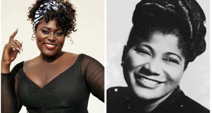 Danielle Brooks, vedette du nouveau biopic de Lifetime sur la chanteuse de gospel Mahalia Jackson.