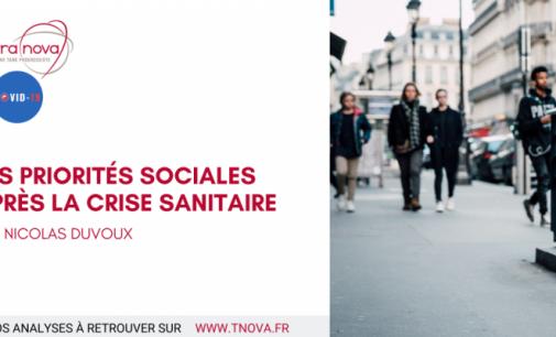 LES  PRIORITÉS SOCIALES APRÈS LA CRISE SANITAIRE.