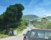 Restriction d'entrée à Saint-Martin : embouteillage à Bellevue