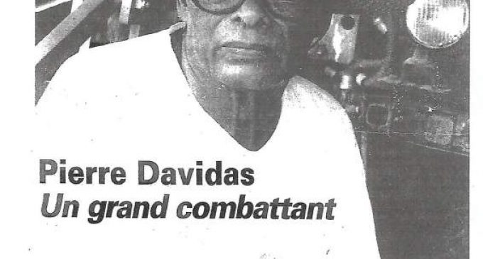 CHLORDECONE : GDC rappelle l'action fondamentale de Pierre Davidas, il y a 20 ans déjà ! ( Publié le 02/10/2020.)