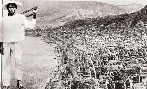 Un des rares survivants de l'éruption de 1902 : Léon compère