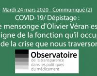 Covid-19: les politiques s'enfoncent dans le mensonge.
