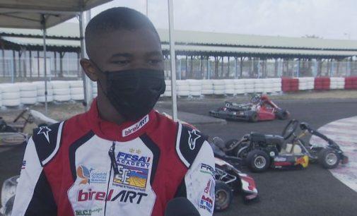 Notre champion martiniquais Craig Tanic, se prépare à la reprise du championnat de France de karting