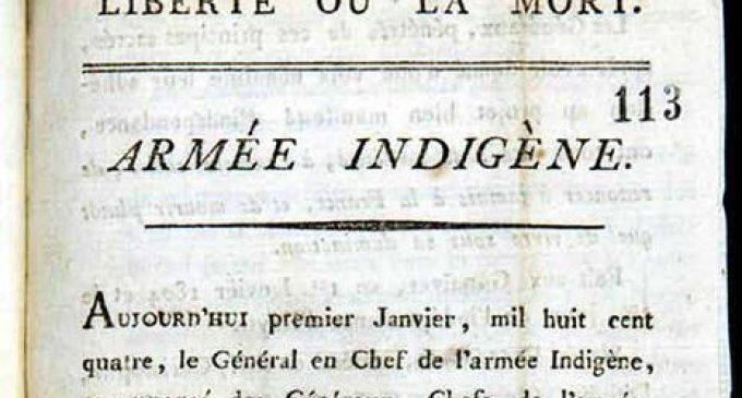 L'original de l'acte  de l'Indépendance d'Haïti enfin retrouvé !