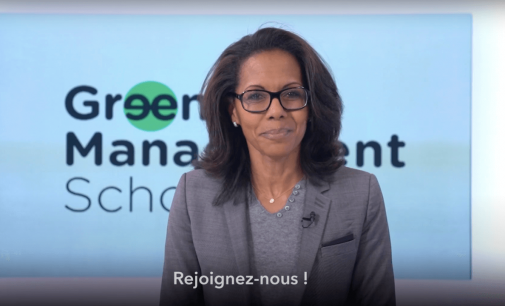 WELCOME À LA GREEN MANAGEMENT SCHOOL,  trés chère école privée fondée par Audrey Pulvar.