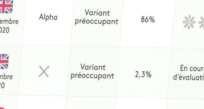 Contagiosité, efficacité des vaccins, présence en France… Tout savoir sur les variants du Covid-19 en un clin d'œil