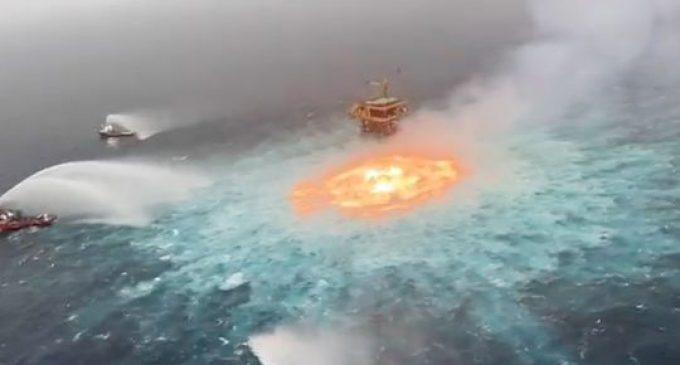 Golfe du Mexique : ce que l'on sait de «l'œil de feu», l'impressionnant incendie observé à la surface de l'océan après une fuite de gaz